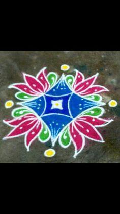 Rangoli Designs Latest, Latest Rangoli, Rangoli Ideas, Colorful Rangoli Designs, Rangoli Designs Diwali, Kolam Rangoli, Easy Rangoli, Beautiful Rangoli Designs, Mehndi Designs