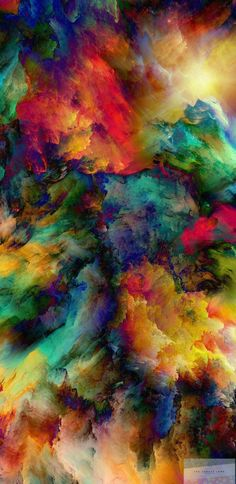 Smoke | Colourful | Wallpaper | iPhone | Android