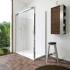 Single Wall Shower Enclosure with Easy Clean Tempered Glass   LeveL8Plaza.com https://www.level8plaza.com/home-improvement/shower/shower-enclosure/Single-Wall-Shower-Enclosure-with-Easy-Clean-Tempered-Glass