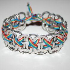 Soda Tab Bracelet with Ribbon ...
