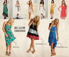 High low dresses. Fashion. Style. Fashion Tip Friday <3