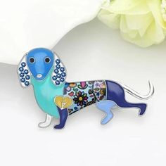 """""""Lovely Dachshund"""" pin 1 Gifts For Your Mom, Great Gifts, Hard Enamel Pin, Animal Design, Dog Gifts, Mother Day Gifts, Dog Mom, Cute Cartoon, Dachshund"""
