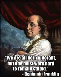 Benjamin Franklin, one of America's 'Founding Fathers,' is well known and held in high regard for his curious nature and his many inventions. A man with poor… Benjamin Franklin, Great Quotes, Inspirational Quotes, Awesome Quotes, Michigan, Thing 1, Motivational Posters, Motivational People, People Quotes