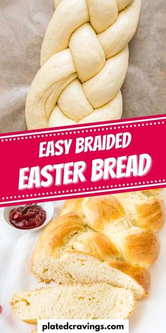 Braided Bread is one of my favorite recipes to bake for Easter but it tastes great all year round! It's delicious with butter and jam on top and leftovers are perfect for making french toast or bread pudding. This easy sweet braided yeast bread is soft, slightly sweet, and enriched with eggs and heavy cream for a tender crumb! Easy Baking Recipes, Easy Delicious Recipes, Bread Recipes, Cooking Recipes, Spring Recipes, Easter Recipes, Easter Food, Easter Ideas, Easy Desserts
