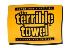 Picture of Pittsburgh Steelers Terrible Towel Refrigerator Magnet Steelers Terrible Towel, Pittsburgh Steelers Football, Nfl Chicago Bears, Refrigerator Magnets, Hand Towels, England Patriots, Rally, Fan
