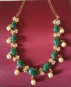 Emerald Jewelry, Diamond Jewelry, Gold Jewelry, Bold Necklace, Beaded Necklace, Necklaces, Neck Piece, Sterling Jewelry, Bead Jewellery