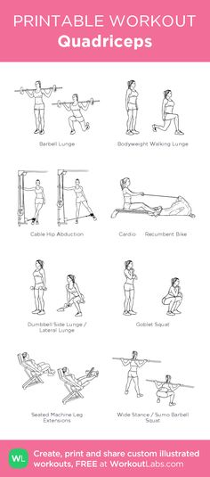 Quadriceps:my visual workout created at WorkoutLabs.com • Click through to customize and download as a FREE PDF! #customworkout
