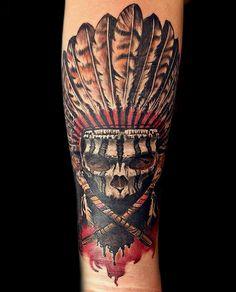 Tattoo skull vintage. work by Tattoo79