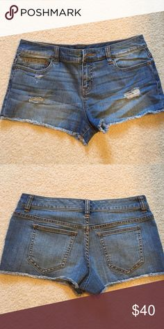 Never worn Victoria's secret boyfriend shorts Distressed denim. Never worn. Boyfriend shorts. Victoria's Secret Shorts Jean Shorts