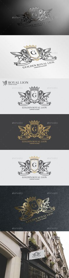 Golden Royal Lion Logo Template #design #logotype Download: http://graphicriver.net/item/golden-royal-lion-vol4/10906428?ref=ksioks