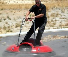 Glide through various terrains with ease while riding atop your very own personal hovercraft. The ergonomic design allows for easy handling and boasts top speeds of 15 MPH over concrete, asphalt, grass, and shallow wet areas.