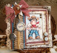 Made by Janiel, this card features Lucky Edwin. He is paper pieced for dimensional effect.