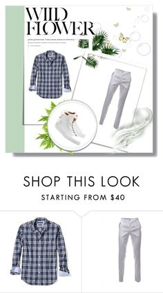 """""""Man combination"""" by deemonk ❤ liked on Polyvore featuring Banana Republic, BUSCEMI, men's fashion and menswear"""