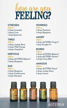 How Are You Feeling? doTERRA Diffuser Blends