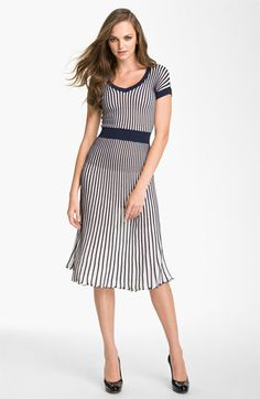 BCBGMAXAZRIA Pleated V-Neck Sweater Dress available at #Nordstrom