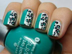 cool leo print nails