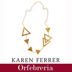 Hermoso collar perteneciente a nuestro catálogo de orfebrería 2015/2016 disponible a través de contacto@karenferrer.com, hacemos envíos internacionales.  #girls #women #necklace #metalcraft #accesories #diseñovenezolano #fashion #jewelry