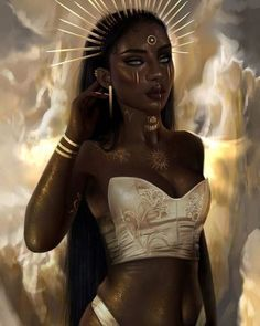 Sun Goddess, ruler of Leo ♌️ saw some of you were disappointed w me after drawing a black Fire Goddess and Leo, so here's another… Black Love Art, Black Girl Art, Black Girl Magic, Art Girl, Beautiful Black Women, Black Art Painting, Black Artwork, Matte Painting, Woman Painting
