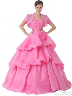 FairOnly Custom Made Move Coat Tiered Princess Quinceanera Dress Evening Dresses