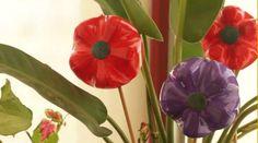 Como fazer flores com material reciclado - Bolsa de Mulher