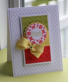 The card pictured isn't a Christmas card, but could easily be designed with a wreath and a bow to make it into one!