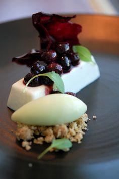 Creme Fraiche Parfait - Blueberries & Basil
