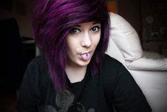 43 Amazing Dark Purple Hair, Balayage/Ombre/violet - New Hair Styles 2018 Dark Purple Hair, Black Hair Dye, Plum Purple, Violet Hair, Bright Purple, Purple Haze, Pelo Color Morado, Balayage Hair Caramel, Balayage Ombre