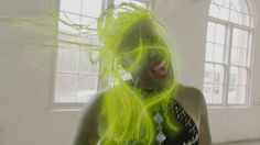 The third video from *Olympia* shows Austra playing in some sort of dance studio from hell. Me Now, Clip, Olympia, Confessions, It Hurts, Long Hair Styles, Photo And Video, Beauty, Dance Studio