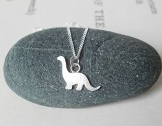 dinosaur necklace in sterling silver, the brontosaurus version £24.00