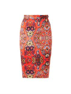 this is amazing: Dynasty-print pencil skirt | Vivienne Westwood Anglomania | MA...