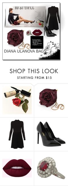 """""""rosette mini Bordeaux"""" by nelly-melachrinos ❤ liked on Polyvore featuring Paule Ka and Yves Saint Laurent"""