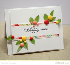 Happy Flowers card by Dani at Studio Calico using Neverland Card Kit