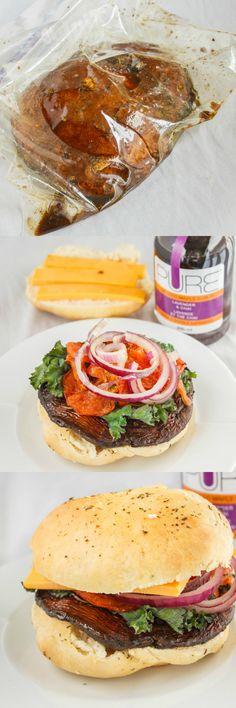 How to make and grill portobello mushroom burgers!
