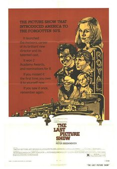 The Last Picture Show is a 1971 Drama, Period piece film directed by Peter Bogdanovich and starring Timothy Bottoms, Jeff Bridges. 1970s Movies, Old Movies, Vintage Movies, Great Movies, Cybill Shepherd, Jeff Bridges, Cinema Posters, Movie Posters, The Last Picture Show