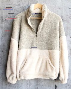 high pile fuzzy quarter zip sherpa pullover womens fleece lined shearling sweats. - - high pile fuzzy quarter zip sherpa pullover womens fleece lined shearling sweatshirt plus size Buy 1 Get 1 OFF Code: SUNIVEST While buy ANY pullov. Pullover Jacket, Pullover Outfit, Nike Pullover, Half Zip Pullover, Sherpa Sweater, Pullover Sweaters, Sweatshirt Dress, Patagonia Fleece Pullover, Outfit Sets