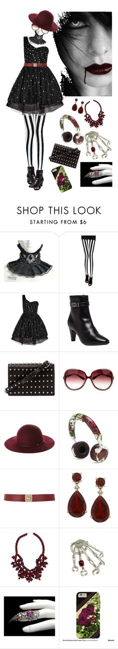"""""""Goth Touches"""" by cricketdiane ❤ liked on Polyvore featuring Yves Saint Laurent, Aquatalia by Marvin K., Alexander Wang, Oliver Peoples, Fallenbrokenstreet, Dolce&Gabbana, Maison Boinet and Ek Thongprasert"""