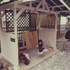 DIY/お庭/自転車置き場/ブランコ/ブランコ DIY/こどもと暮らす。…などのインテリア実例 - 2016-05-28 14:51:53…