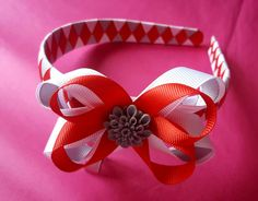 School Alice band with boutique bow attachment