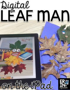 Technology integration for fall! Have students make a leaf man on Pic Collage. Step by step instructions for using the free iPad app Pic Collage and lesson suggestions.