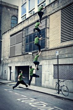 The Art of Parkour [also known as Free Running is the art of running, bouncing, tumbling, leaping around pretty much every surface (horizontal or not) in your city] where can i learn this!!