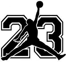 Wall decal Michael Jordan with number 23 Michael Jordan Tattoo, Michael Jordan Art, Michael Jordan Number, Jordan 23, Jordan Cake, Nike Logo Vector, Jordan Logo Wallpaper, Jordan Photos, Jumpman Logo