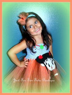 Ni Hao Kailan tutu dress Children Halloween by Justforfuntutu