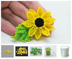 7 Craft Ideas with Seed Beads Beaded Brooch, Beaded Jewelry, Crochet Earrings, Beading Tutorials, Craft Tutorials, Craft Ideas, Art And Craft Materials, Beaded Crafts, Pattern Drafting