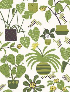 Marimekko Volume 4 Ikkunaprinssi Botanical Wallpaper | AllModern