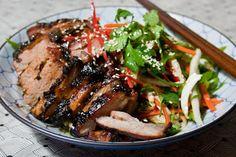 Roast Hoisin Pork With Asian Slaw