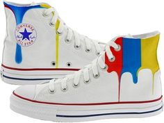 Amazon.com: Converse Chuck Taylor All Star Canvas High Top Optical White Custom Hand Painted m7650drizzle: Shoes CLICK TO BUY NOW!!