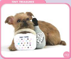 Tiny Treasure Designer Dog Toys