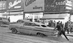 Drivers On the Go in the Snow at Philadelphia Pennsylvania Car Photos, Car Pictures, Chevrolet Impala, Chevy, Winter Car, Bentley Mulsanne, Vintage Winter, Winter Pictures, Custom Trucks
