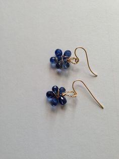 Gold Kyanite Earrings Lilyb444 Bridal Etsy wedding by Lilyb444, $35.00-https://www.etsy.com/treasury/OTI3NDI1OXwyNzI0Njk0NDA4/autumn-comes-early