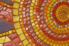 My own mosaic art sun; 2009